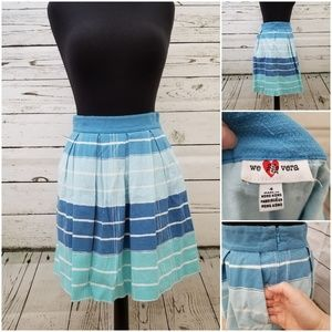 Anthropologie striped blue skirt with pockets